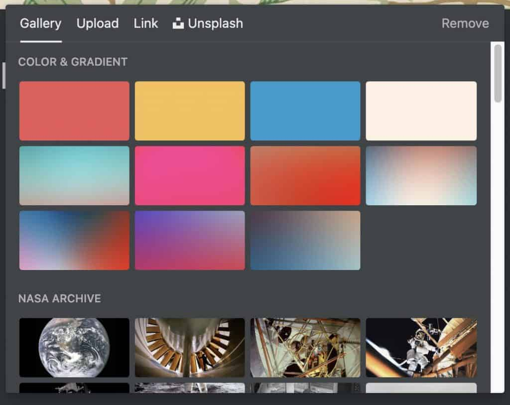 Cover Image Picker in Notion