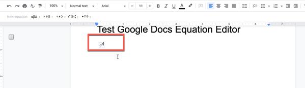 a2 in Google Docs equation editor