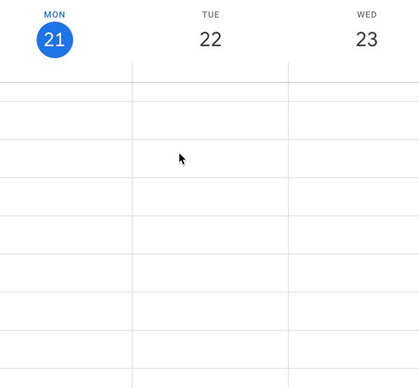 looking for open time blocks in Google Calendar