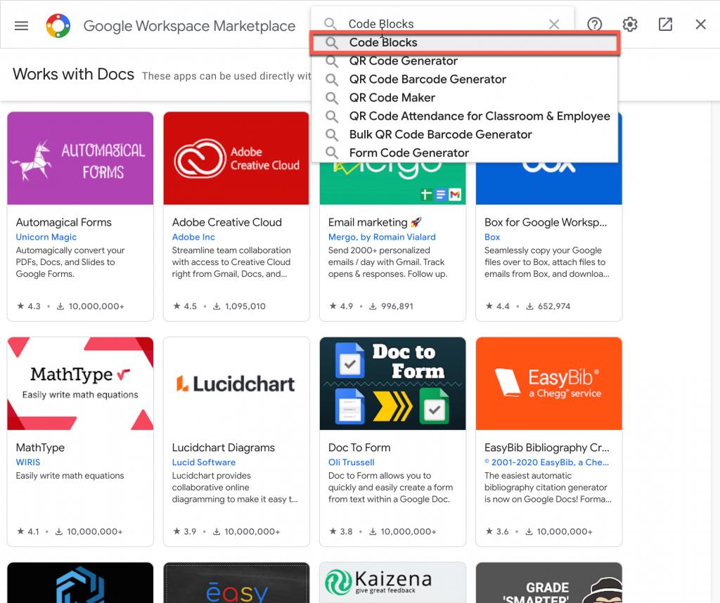 Google Workplace Marketplace