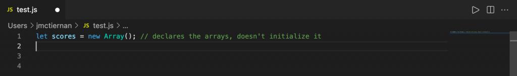 Declaring an array in JavaScript