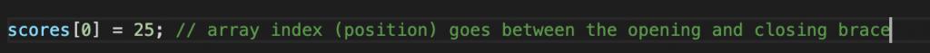 JavaScript array index 0