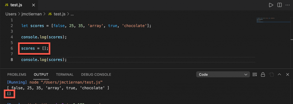 Clearing a JavaScript array