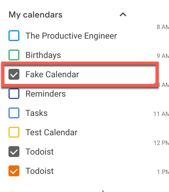 New Google Calendar