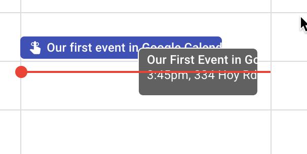 A reminder in Google Calendar