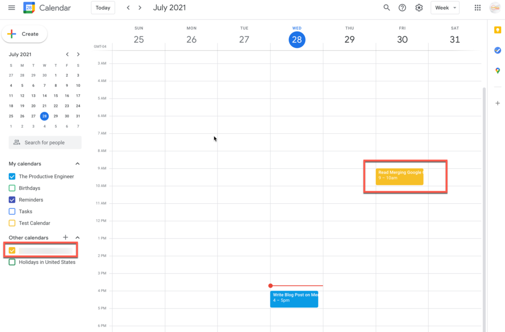 View other person's calendar in your Google Calendar
