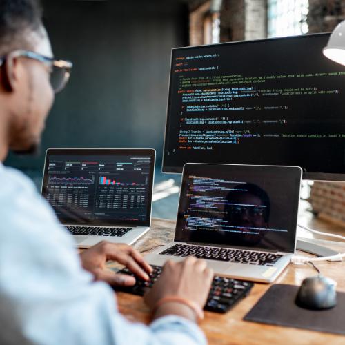 developer writing code
