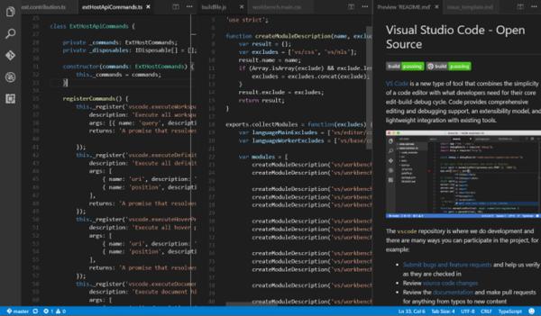 vs code for windows split view