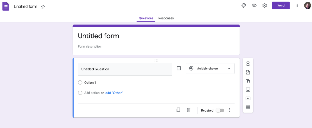 Blank Google Form