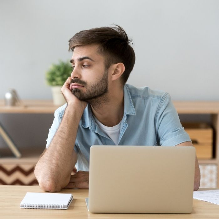 student struggling to find motivation to study